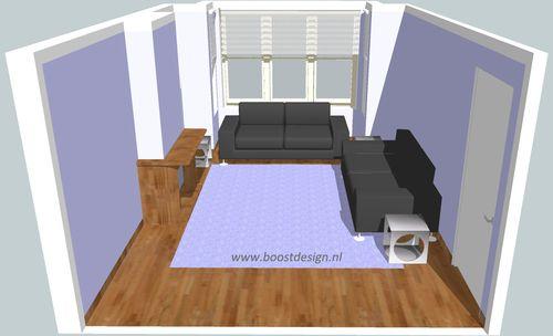 Kleine woonkamer, grote zithoek | Makelaarsland