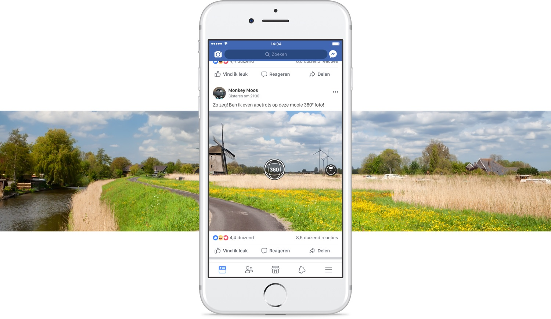 Facebook 360º fotografie